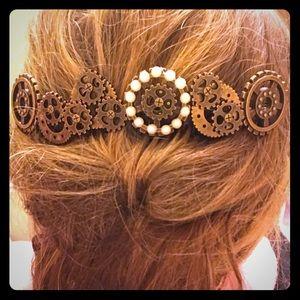 Handmade Set of Steampunk Hair-combs